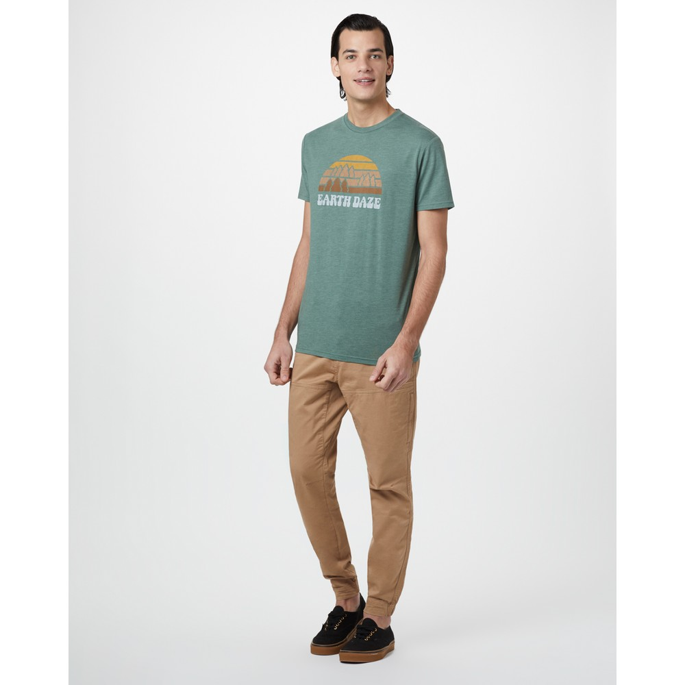 tentree Earth Daze Classic T-Shirt Mens Forest Green Heather
