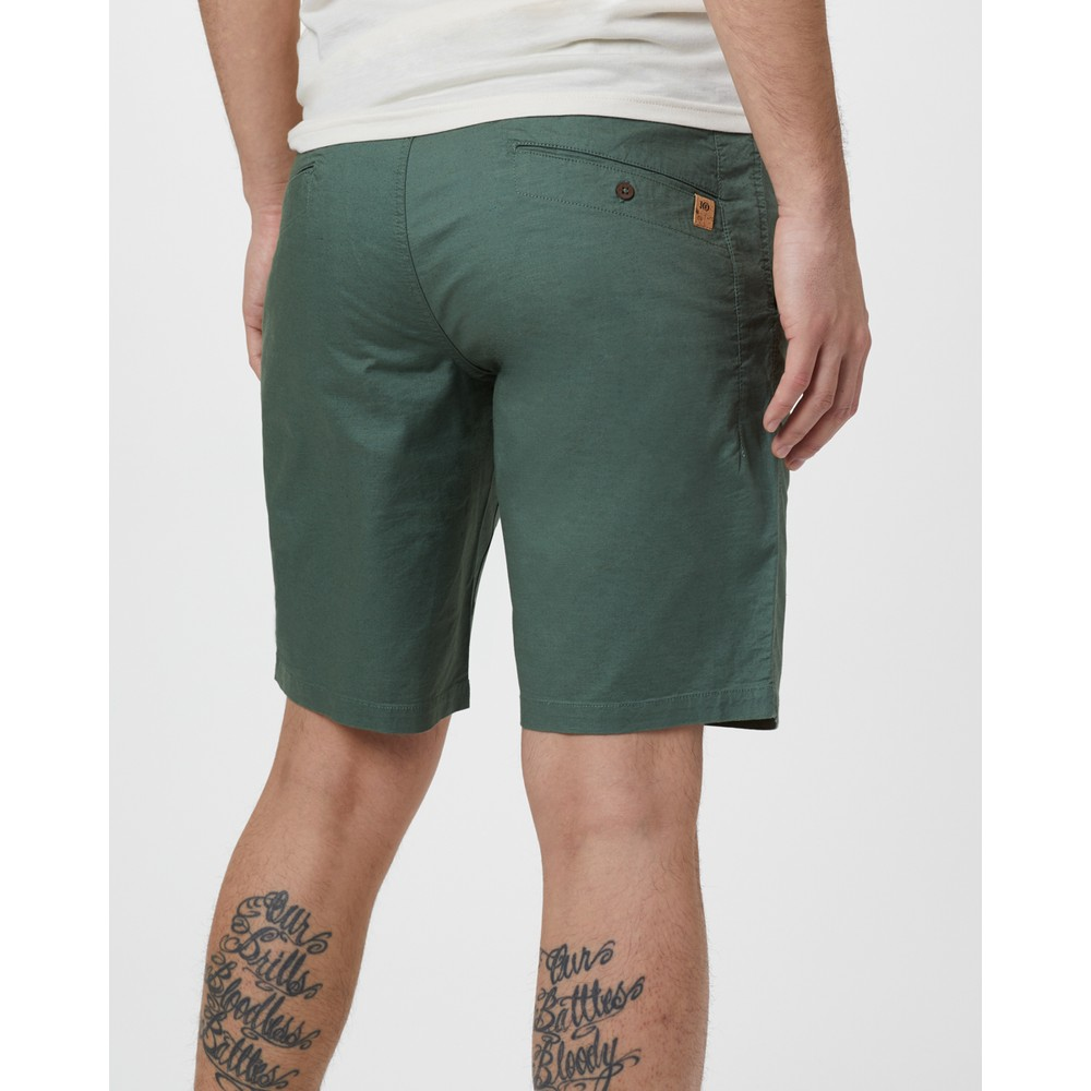 tentree Preston Hemp Short Mens Forest Green