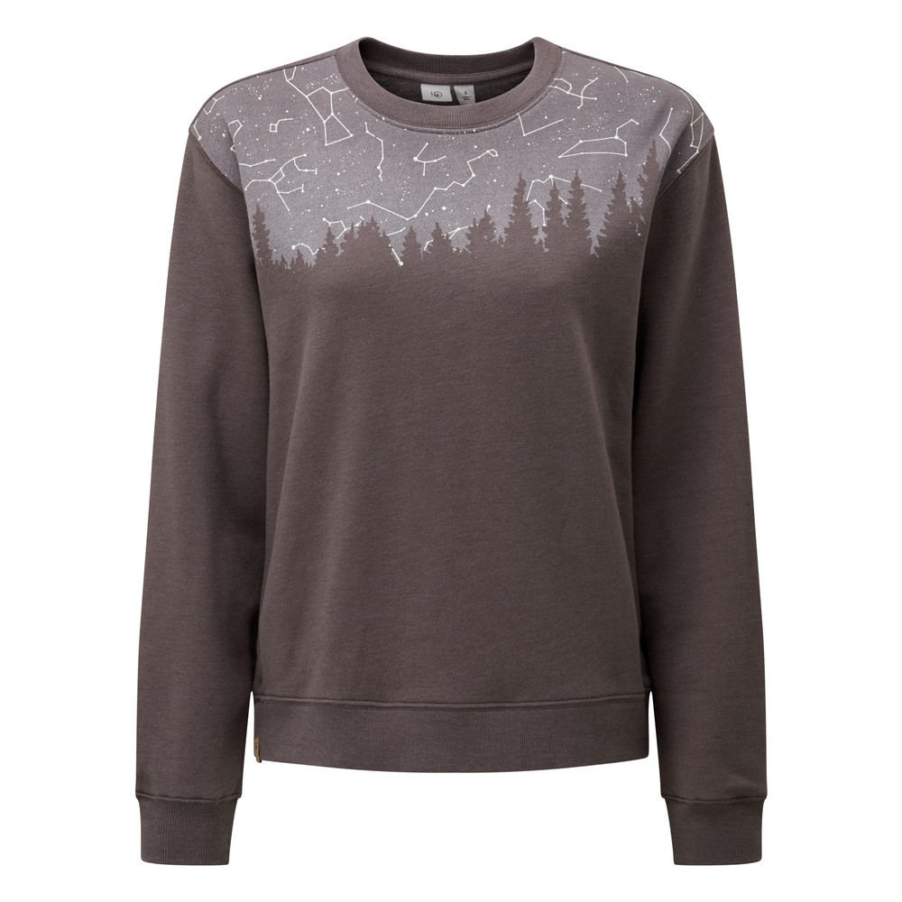 tentree Constellation BF Crew Womens Boulder Grey Heather