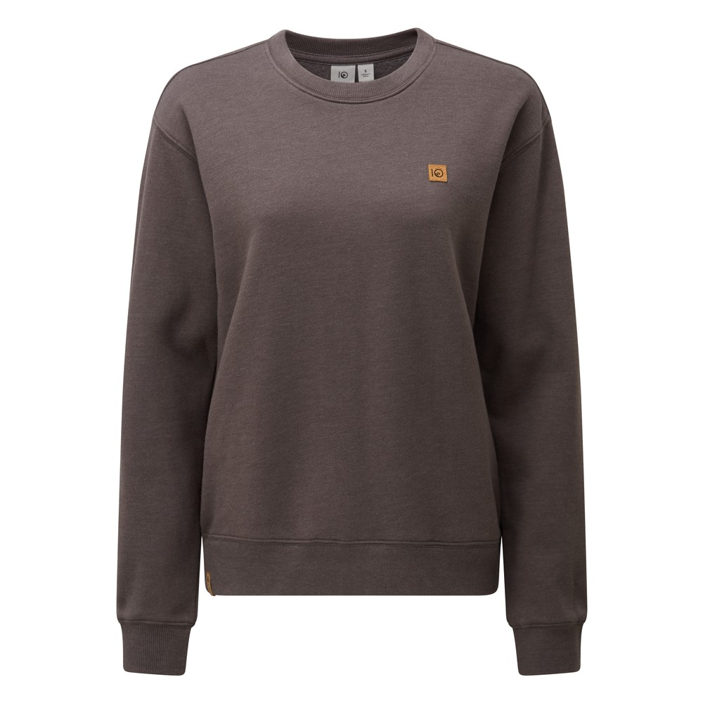 tentree BF Crew Womens Boulder Grey Heather