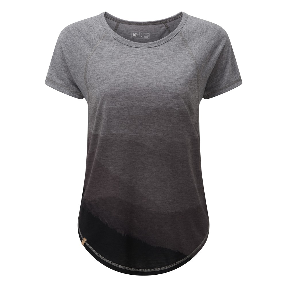 tentree Destination T-Shirt Womens Rise Grey Heather/Hi Rise Grey - Mountain SUB