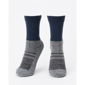 tentree 3-Bottle Daily Sock (2-pack) in Forest Green/Dark Ocean Marled