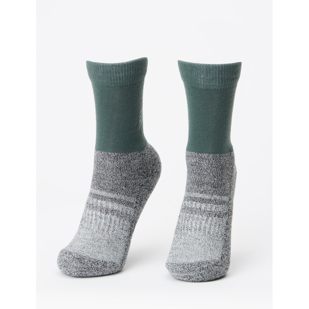 tentree 3-Bottle Daily Sock (2-pack) Forest Green/Dark Ocean Marled
