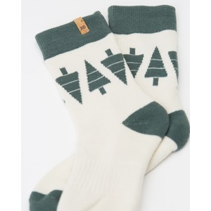 tentree 3-Bottle Daily Sock (2-pack) in Meteorite/Elm White Tree