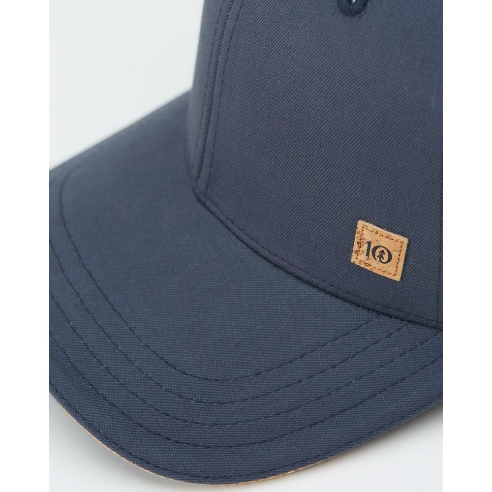 tentree 6-Panel Elevation Hat Dark Ocean Blue