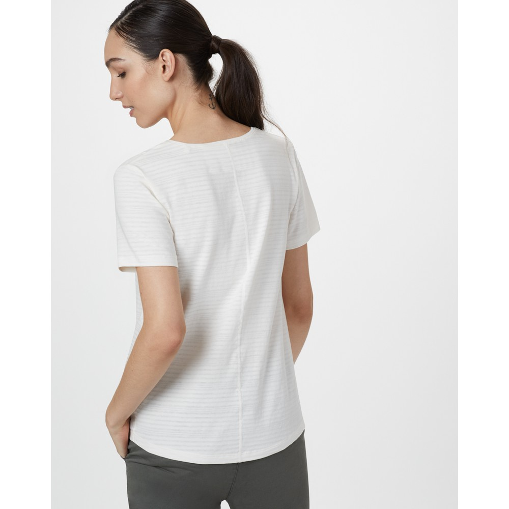 tentree Enso T-Shirt Womens Elm White