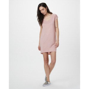 tentree Waldron Dress Womens in Quartz Pink Heather