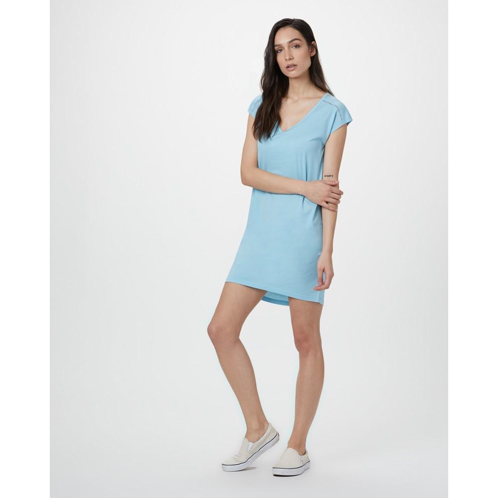 tentree Waldron Dress Womens Glacier Blue Heather