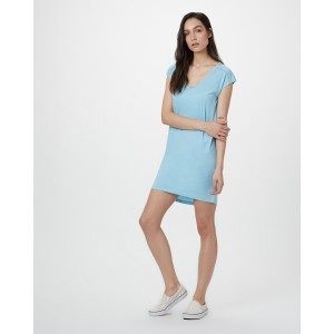 tentree Waldron Dress Womens in Glacier Blue Heather