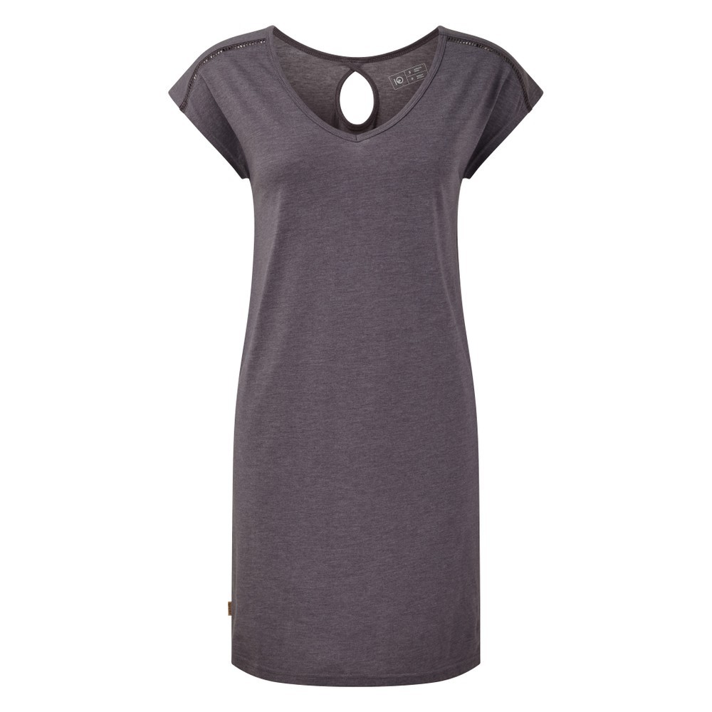 tentree Waldron Dress Womens Boulder Grey Heather
