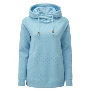 Burney Hoodie Womens Glacier Blue - Small Tree AOP