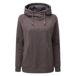 Burney Hoodie Womens Boulder Grey - Birch AOP