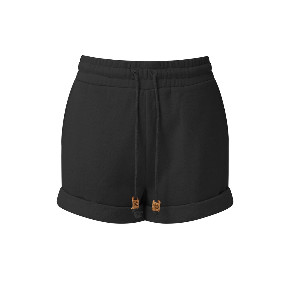 tentree Bamone Sweatshort Womens Meteorite Black Heather