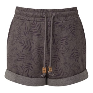 tentree Bamone Sweatshort Womens in Boulder Grey - Floral AOP