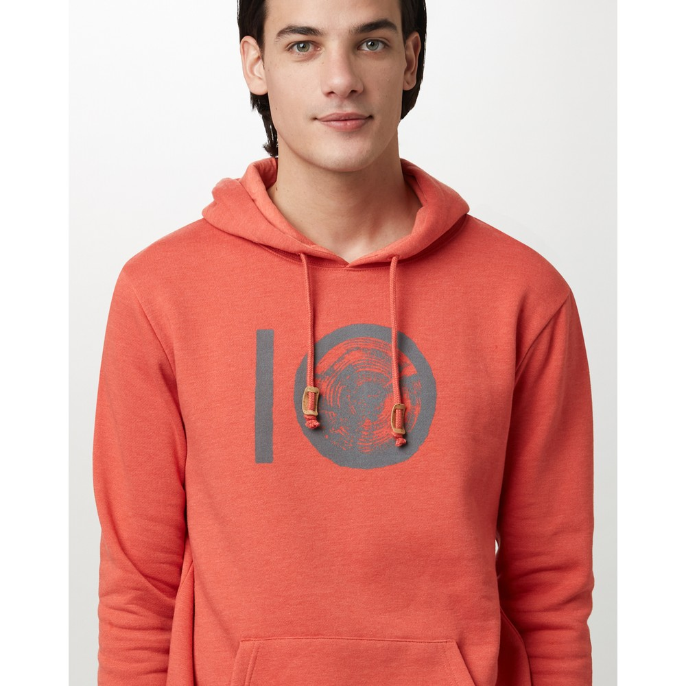 tentree ten Classic Hoodie Mens Burnt Sienna Orange Heather