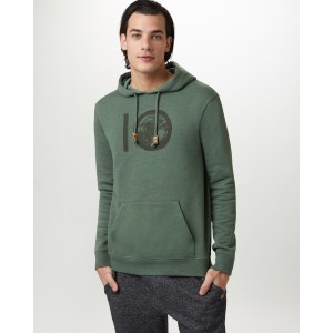 tentree ten Classic Hoodie Mens in Forest Green Heather