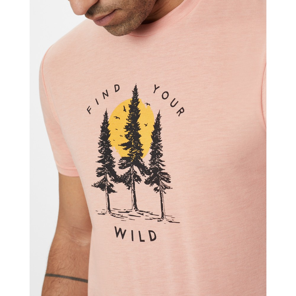 tentree Your Wild Classic T-Shirt Mens Chinook Orange Heather