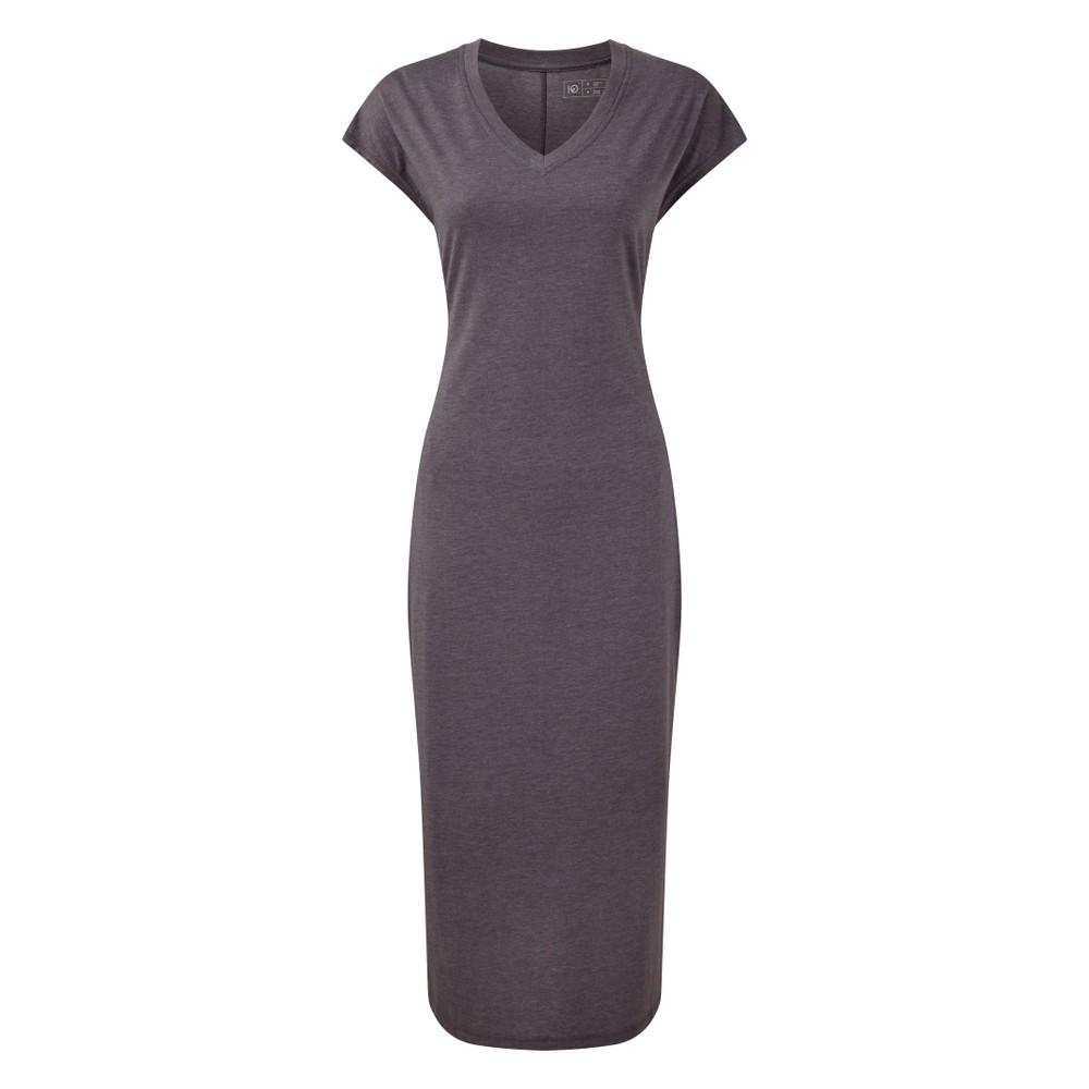 tentree Pipa Maxi Dress Womens Boulder Grey Heather