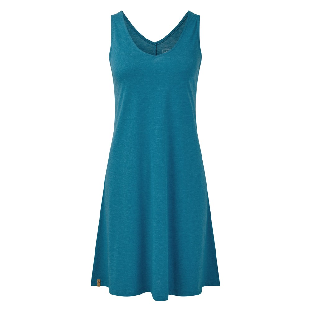 tentree Pipa Dress Womens Blue Lake Blue Heather