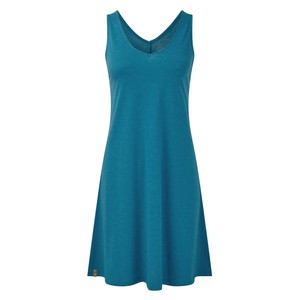 tentree Pipa Dress Womens in Blue Lake Blue Heather
