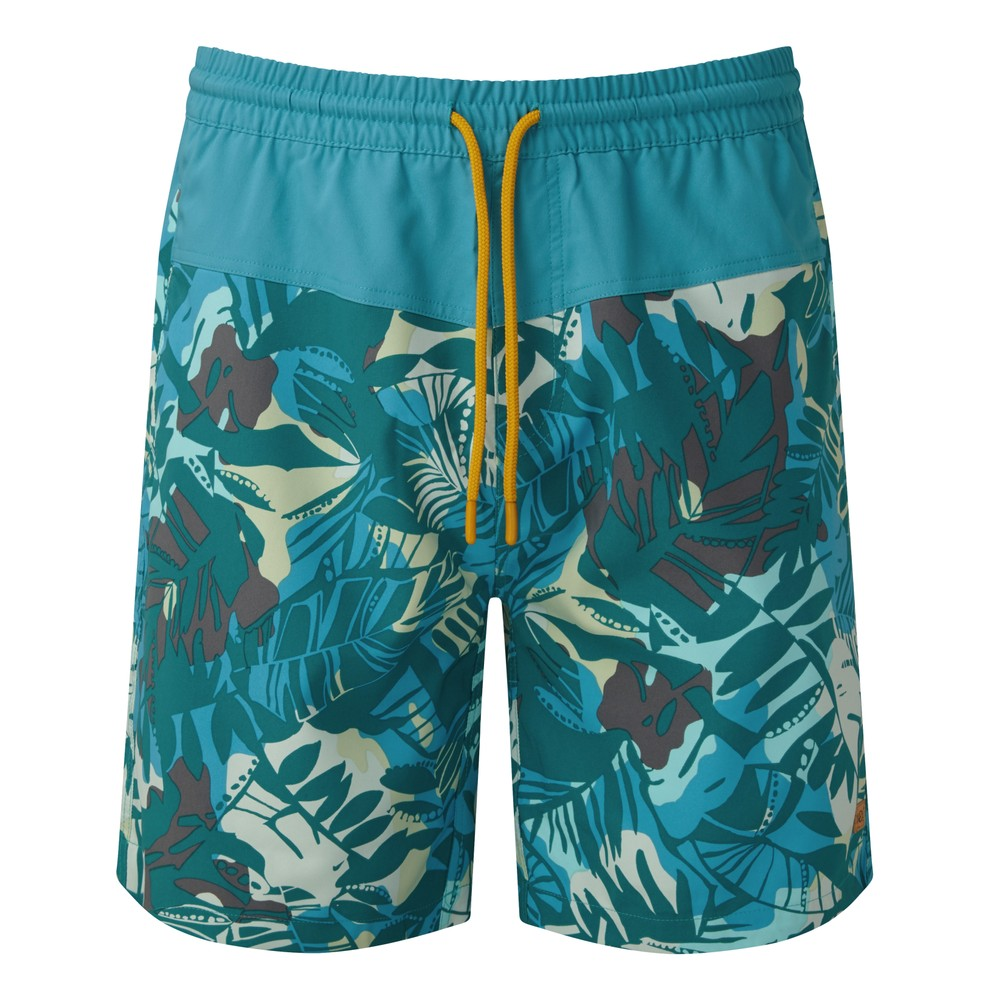 tentree Board Short Mens Star Gaze Blue-Melati/Blue Lake Blue