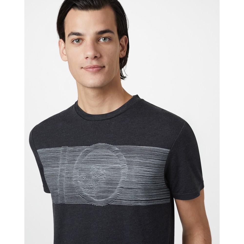 tentree Topographic Classic T-Shirt Mens Meteorite Black Heather