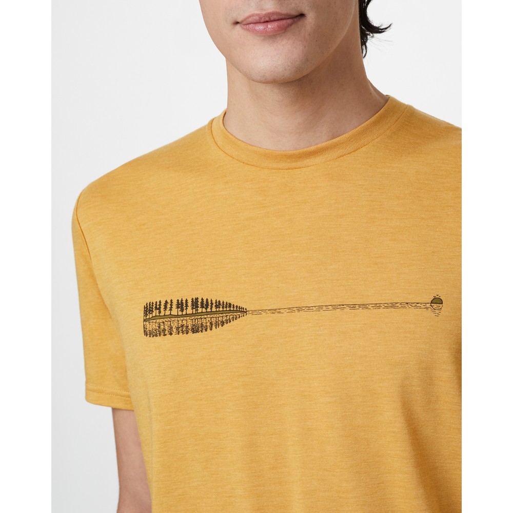 tentree Cove Classic T-Shirt Mens Sweet Birch Yellow Heather