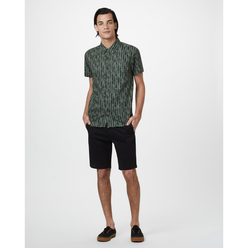 tentree Day Short Mens Meteorite Black