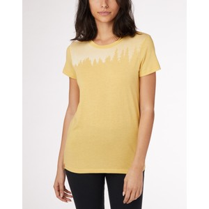 tentree Juniper Classic T-Shirt Womens in Sweet Birch Yellow Heather