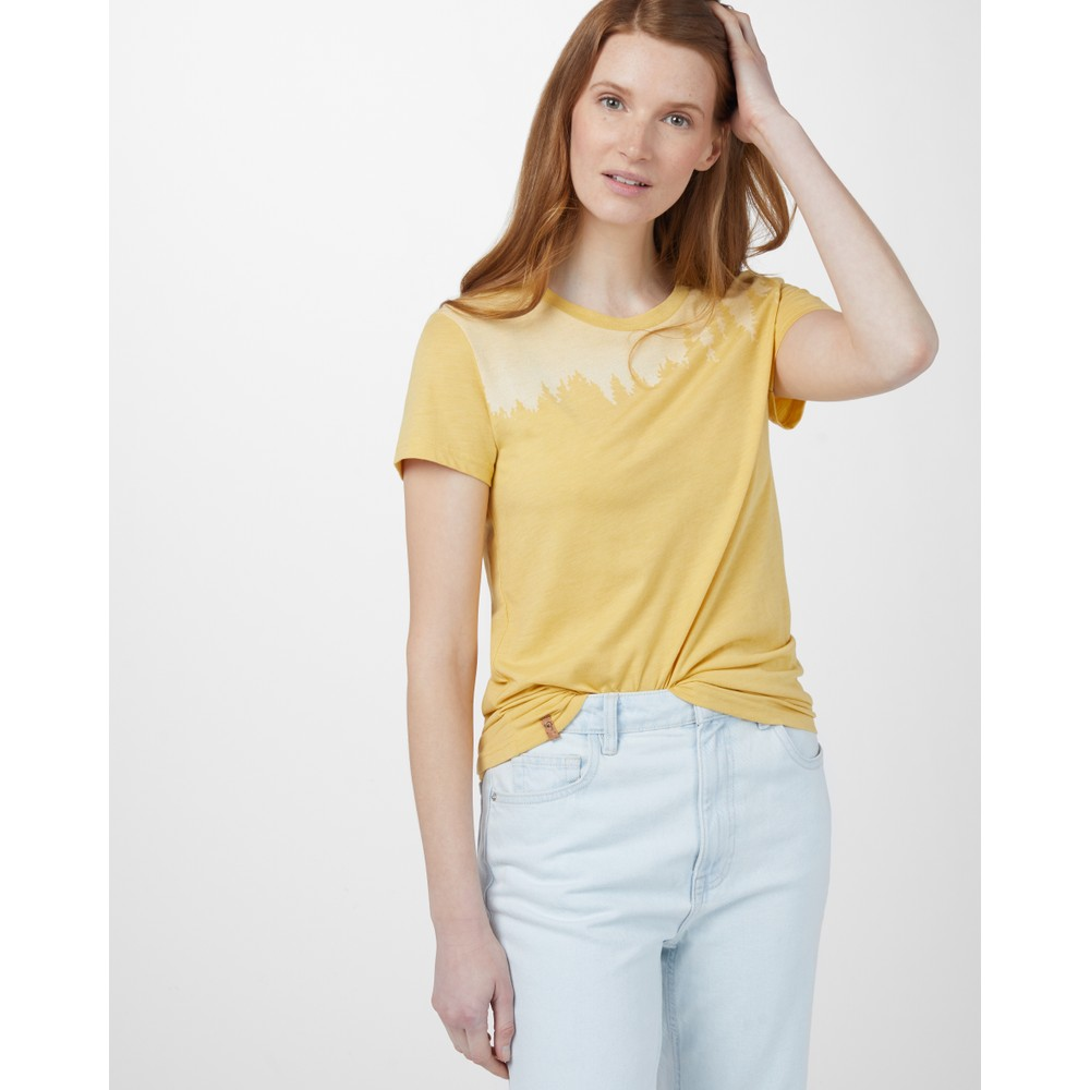 tentree Juniper Classic T-Shirt Womens Sweet Birch Yellow Heather