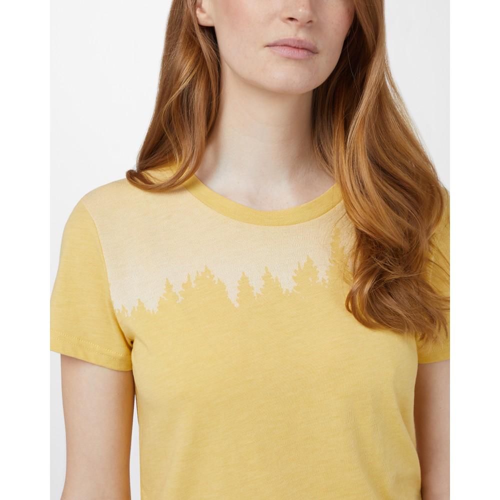 tentree Juniper Classic T-Shirt Womens Sweet Birch Yellow Heather
