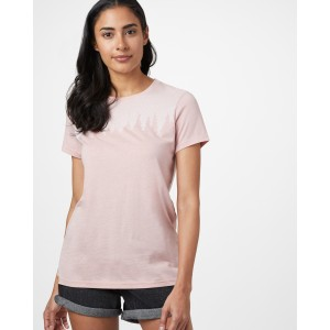 tentree Juniper Classic T-Shirt Womens in Quartz Pink Heather