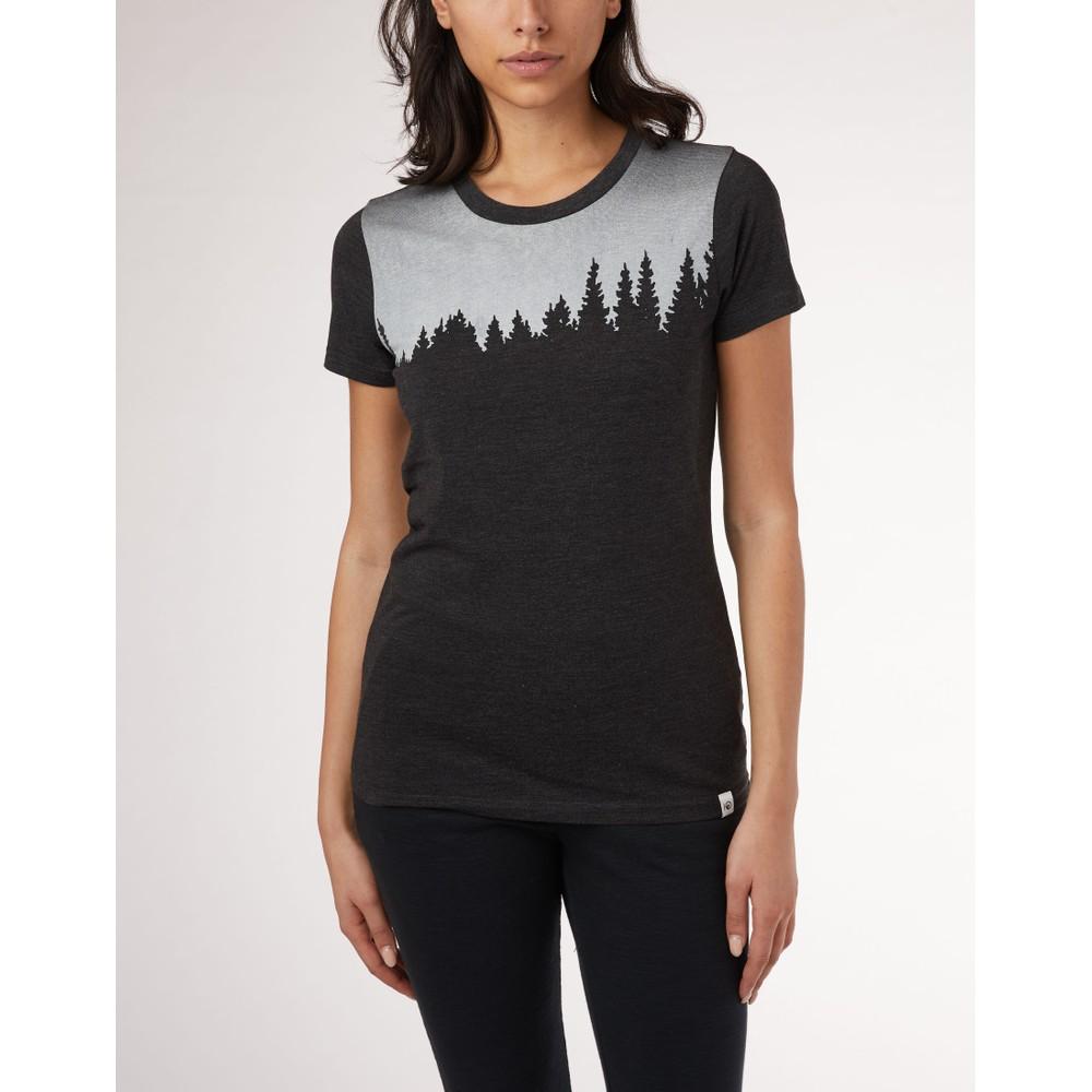 tentree Juniper Classic T-Shirt Womens Meteorite Black Heather