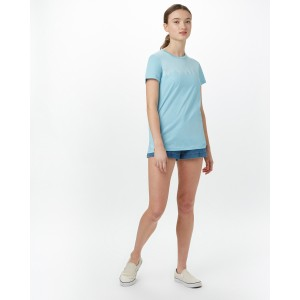 tentree Juniper Classic T-Shirt Womens in Glacier Blue Heather