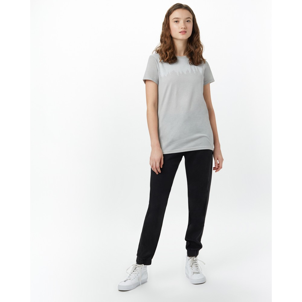 tentree Juniper Classic T-Shirt Womens Hi Rise Grey Heather