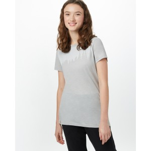 tentree Juniper Classic T-Shirt Womens in Hi Rise Grey Heather