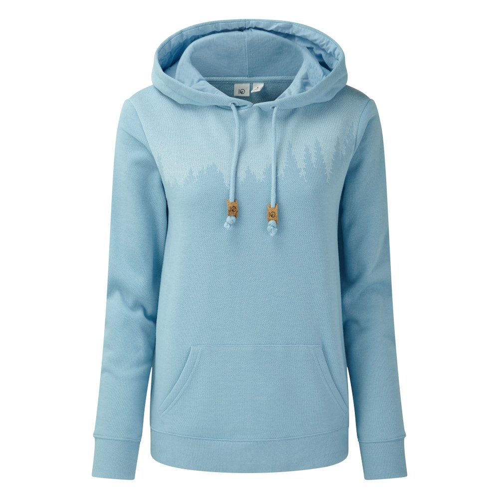 tentree Juniper Hoodie Womens Glacier Blue Heather