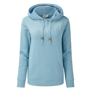 tentree Juniper Hoodie Womens in Glacier Blue Heather