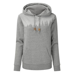 tentree Juniper Hoodie Womens in Hi Rise Grey Heather