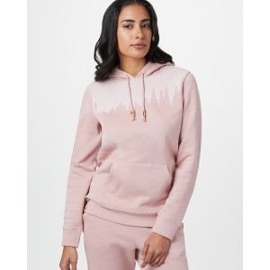 tentree Juniper Hoodie Womens in Quartz Pink Heather