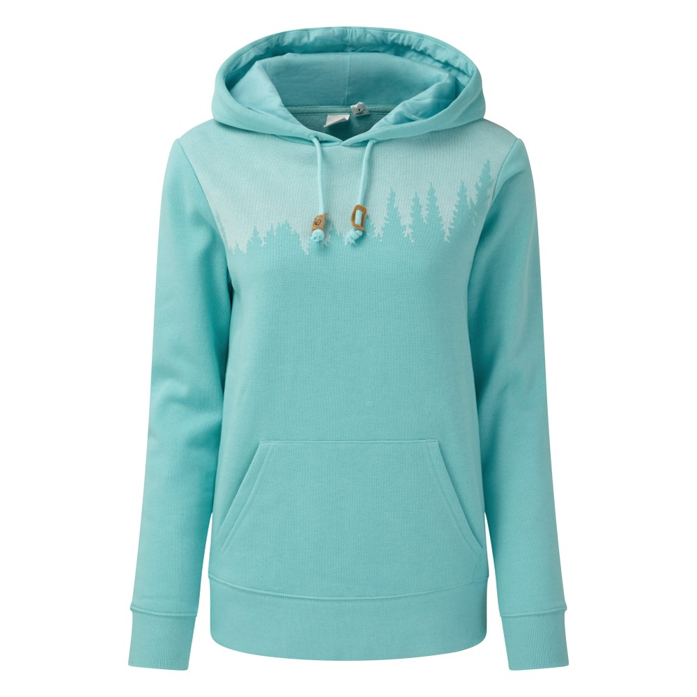 tentree Juniper Hoodie Womens Moraine Blue Heather