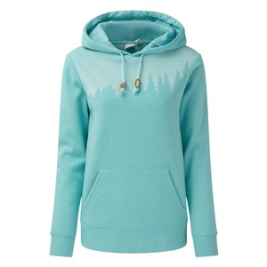 tentree Juniper Hoodie Womens in Moraine Blue Heather