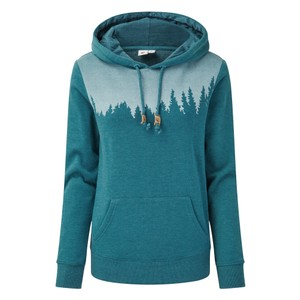 tentree Juniper Hoodie Womens in Star Gaze Blue Heather