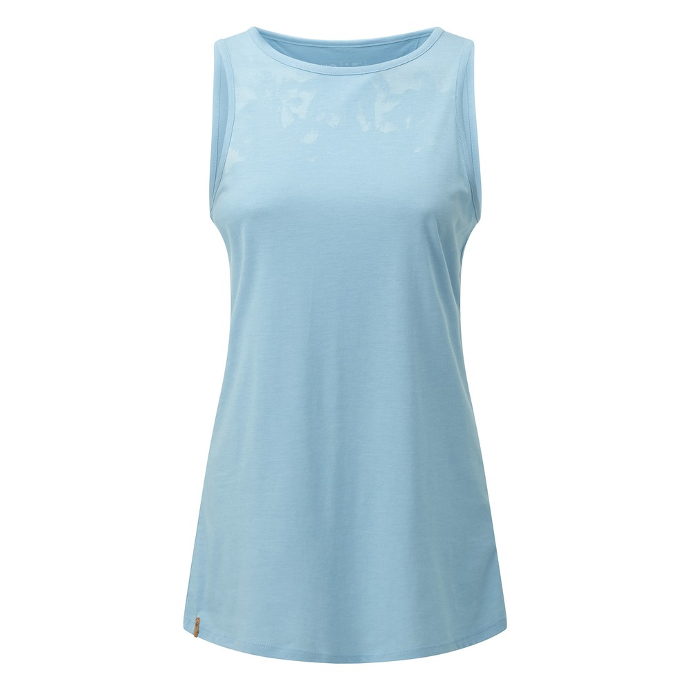 tentree Palm Classic Tank Womens Glacier Blue Heather