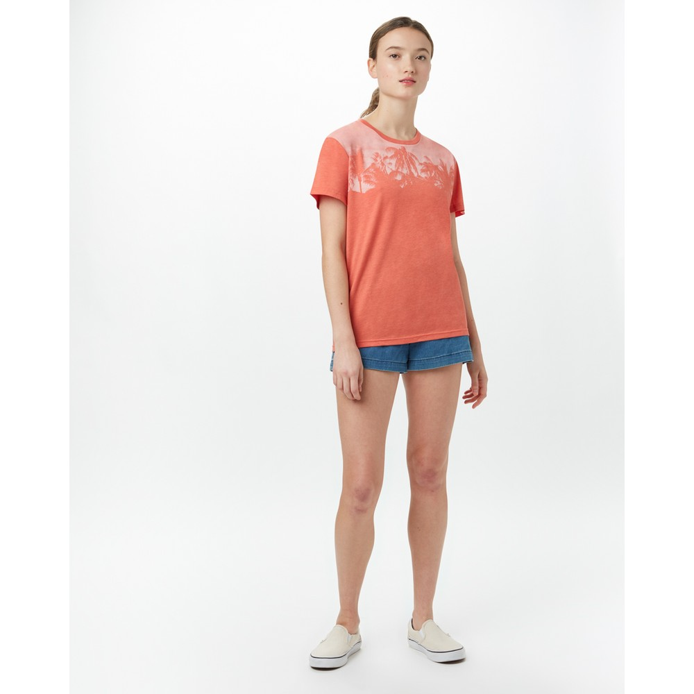 tentree Palm BF T-Shirt Womens Burnt Sienna Orange Heather