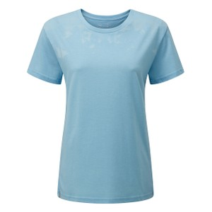 tentree Palm BF T-Shirt Womens in Glacier Blue Heather