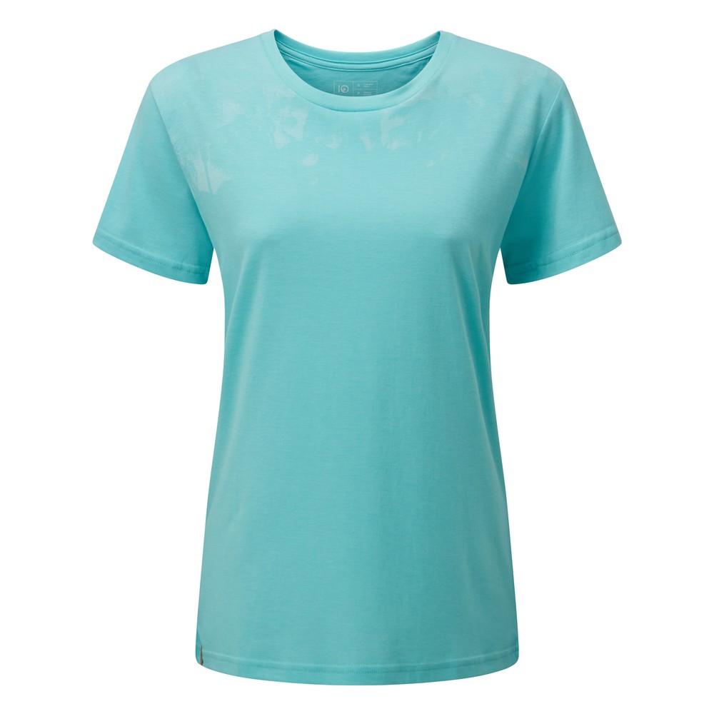 tentree Palm BF T-Shirt Womens Moraine Blue Heather