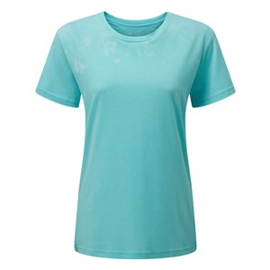 tentree Palm BF T-Shirt Womens in Moraine Blue Heather