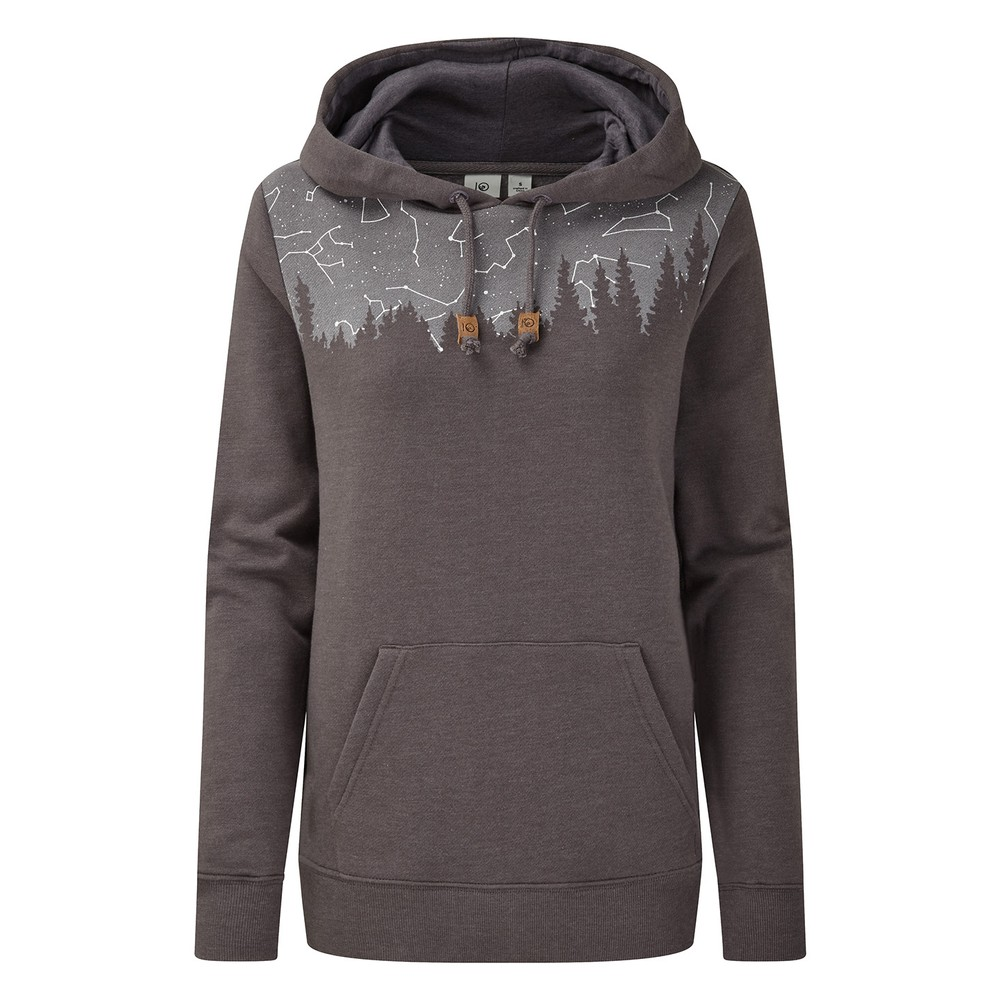 tentree Constellation Classic Hoodie Womens Boulder Grey Heather