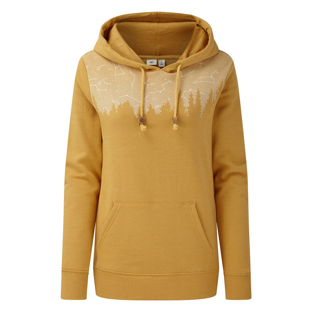 tentree Constellation Classic Hoodie Womens Sweet Birch Yellow Heather